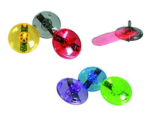 Out of the Blue Kreisel mit LED, mit Knopf, 4cm, Mitgebsel z. Kindergeburtstag