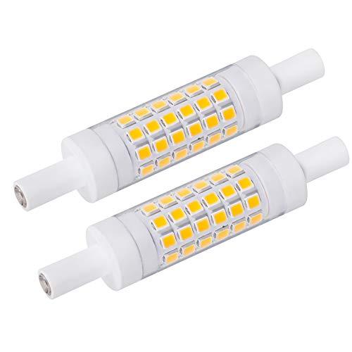 Azhien R7S LED 78mm 5W Nicht Dimmbar,J78 Doppelende Lineare Reflektorlampe, Warmweiß 3000K, 5 Watt, Entspricht 30W 48W 60W Halogenlampe, kein flimmern 230V AC, 500LM, 360 Grad, 2er Pack