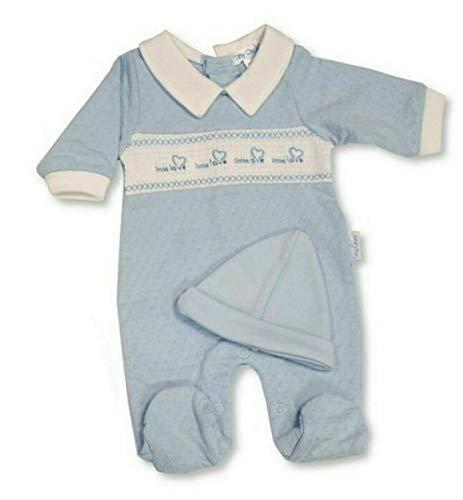 with Tags. Baby Boys Premature Prem Preemie Tiny Pijama y sombrero Bebé Grow Ropa 5-8 lb Azul