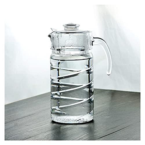 Jarra de agua de 65 onzas con tapa de polipropileno engrosada de agua fría para el hogar con mango para zumo, leche, bebidas calientes y frías jarra hervidor (color: C)