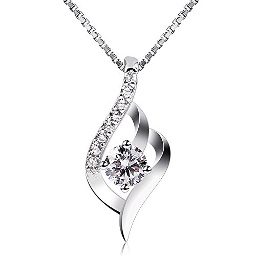 B.Catcher Sterling Silver Necklaces Birthday Gifts for Women Pendant Necklace, 18""