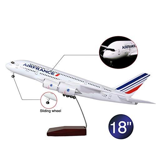 Lose Fun Park 46cm LED-Beleuchtung 1:160 Modellflugzeug France Airbus 380 mit Fahrwerk Flugzeug Geschenk oder Deko