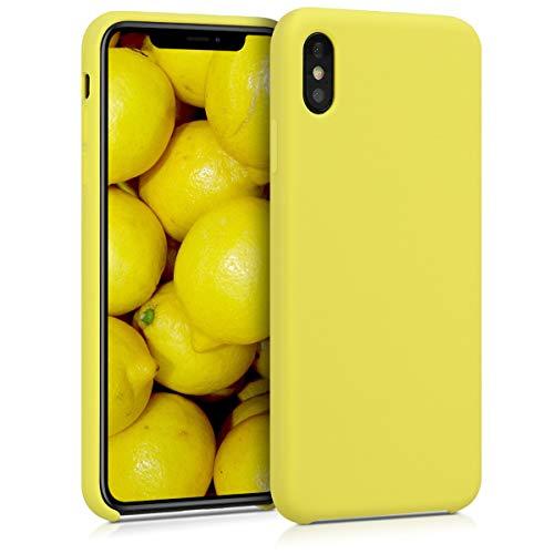 kwmobile Hülle kompatibel mit Apple iPhone XS Max - Hülle Handyhülle gummiert - Handy Hülle in Pastellgelb