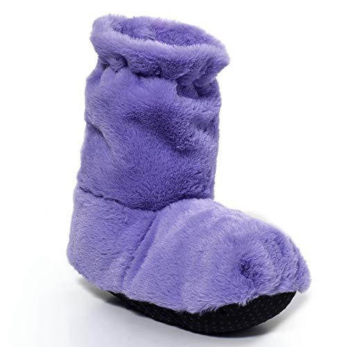 Women's Herbal Scented Warming Slipper Booties - Microwaveable Slippers - Lavender