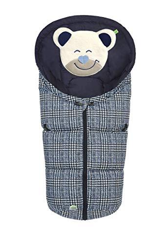Set Odenwälder BabyNest Fußsäckchen Mucki classic mit Stoffwindel von Kinderhaus Blaubär | Baby-Winter-Fußsack für Babyschale, Design:ink blue