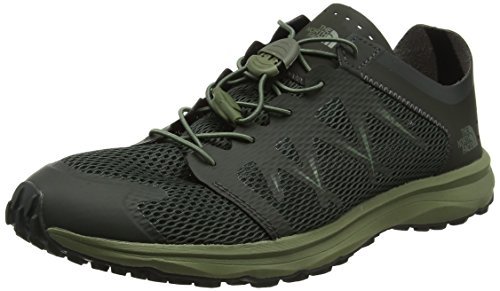 The North Face M Litewave Flow Lace, Chaussures de Fitness Homme, Gris (Blackinkgrn/Fourleafclovr 4Du), 39 EU
