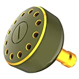 ワタチャンプ(WATACHAMP) リール ハンドル ノブ パワー シマノ ダイワ Shimano Type A、 Daiwa Type S用 30 35 38mm ラウンドノブ アルミ キズつきにくい (ガンスモーク, 35mm)