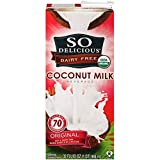 So Delicious Dairy-Free Organic Coconutmilk Beverage, Original, 32 Ounce (Pack of 6) Plant-Based...