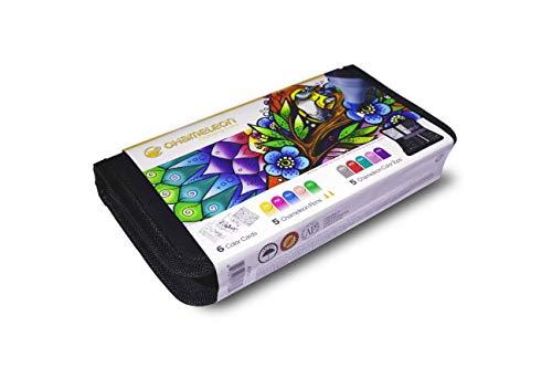 Chameleon Art Products, Chameleon 5 Chameleon Pens, 5 Color Tops, 6 Color Cards, Travel Case