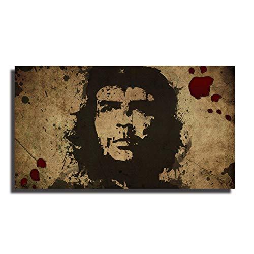 A&D Berühmte Che Guevara Figur Poster Malerei Wandkunst Leinwand Wandbild Malerei Grafik für Wohnzimmer Schlafzimmer Dekorativ -60x110cm Kein Rahmen
