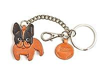 フレンチブルドッグレザー犬バッグ/キーリングチャームVANCA craft-collectibleキーチェーン日本製