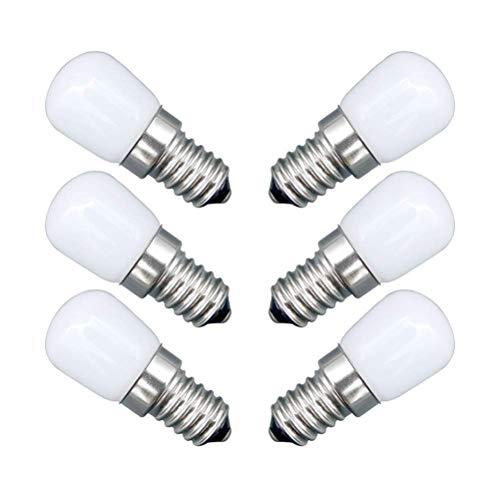 GYW-YW LED Bombilla Nevera Mini lámpara Bombilla LED 2W E14 6500K 1100V 6PCS