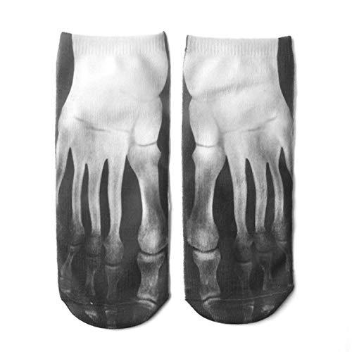 Monllack 3D Drucken Fleisch Skeleton Verschiedene Muster Socken Elastische Boot Socken Kreative Persönlichkeit Komfortable Lustige Socke Für Frau