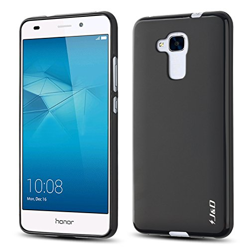J&D Coque Huawei Honor 5C, [Poids Léger] Coque Fine de Protection Antichoc de TPU pour Huawei Honor 5C - Noir