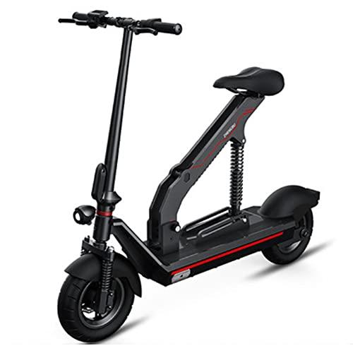 SMDD Scooter eléctrico de 400W, Scooters Plegables de 48V, vehículo de 8/10 Pulgadas, Mini vehículos de 80 km, Tiempo de Carga de 5h Bicicleta de Dos Ruedas, Bicicletas asistidas por el Poder