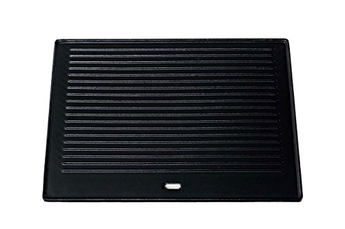 CLP Gusseisen-Grillplatte I Beidseitig Nutzbare Grillplatte Für Gasgrill Und Kohlegrill Und Elektrogrill, Farbe:anthrazit, Größe:41.3x30.5 cm
