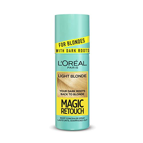 L'Oreal Magic Retouch - Spray istantaneo per ritocchi alla radice scura, colore biondo chiaro