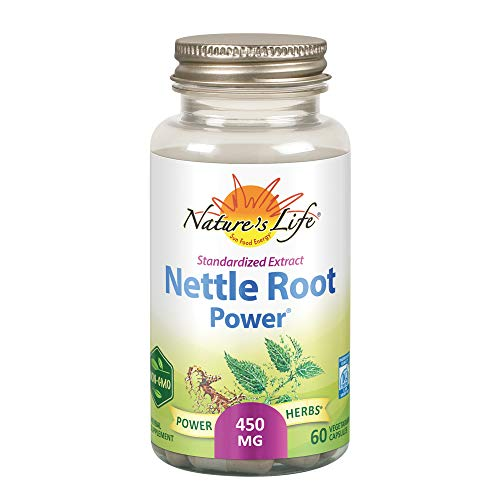 Nature's Life Nettle Root Power 450mg Herbal Supplement   Prostate & Urinary Tract Health Formula for Men   Non-GMO & Lab Verified   60 Veg Caps
