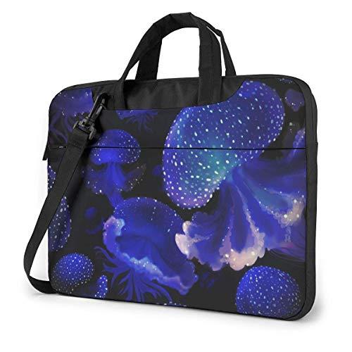 Mochila Azul Medusa para portátil, maletín a Prueba de Golpes, Tableta, Bolso de Mano para Viaje de Negocios, Oficina, 15,6 Pulgadas