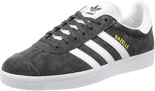 adidas Originals Unisex-Erwachsene Gazelle Low-Top, Grau (Dgh Solid Grey/White/Gold Met.), 38 EU