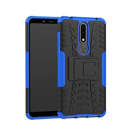 betterfon Nokia 3.1 Plus hülle Outdoor Handy Tasche Hybrid Hülle Schutz Panzer TPU Silikon Hard Cover Bumper für Nokia 3.1 Plus Blau