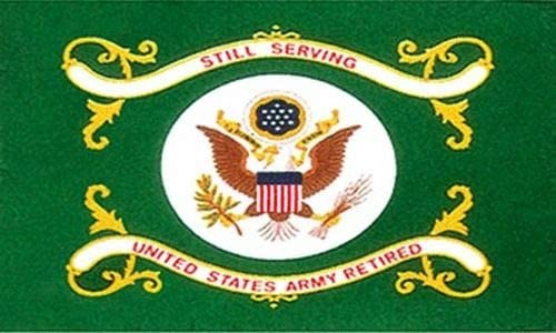 USA Premium Store US Army Retired Flag 3x5 ft Green Veteran Vet Still Serving United States product image