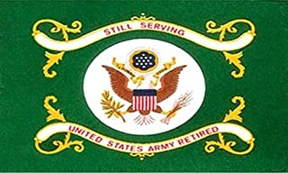 USA Premium Store US Army Retired Flag 3x5 ft Green Veteran Vet Still Serving United States USA