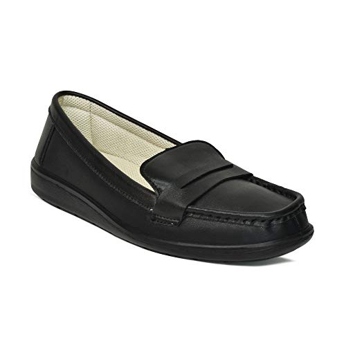 Aerosoft - Women Shoes for Comfortable Walking (US-Women-07, Walkish Black)