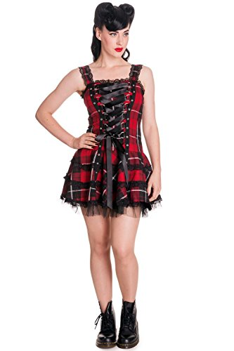 Hell Bunny Kleid Harley Dress 4053 red-Tartan S