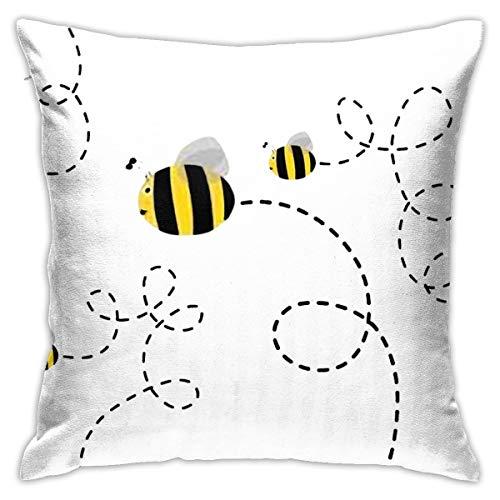 Zhgrong Bumblebee 5 Classic1 Square Kissenbezug 18 x 18 Zoll für Wohnzimmer Sofa Schlafzimmer