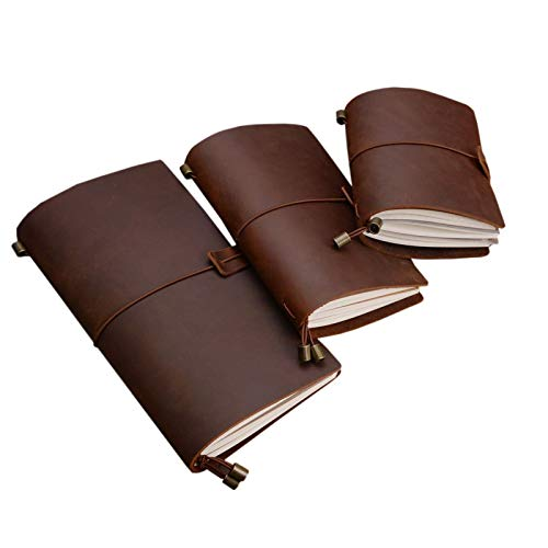 ZumZup - Cuaderno de notas de viaje de piel sintética vintage con...