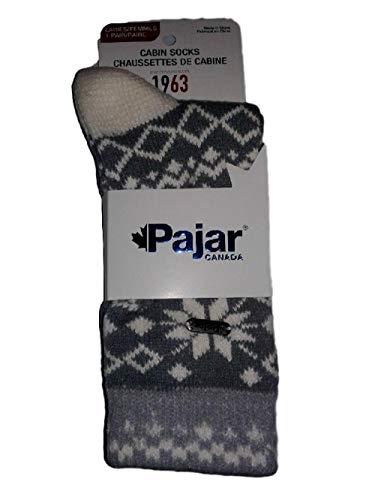 Pajar Cabin Socks, 9-11, Charcoal/Dusty Rose