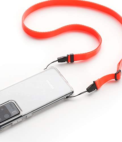 Ringke Schouder- en Nekriem Shoulder Strap Ontworpen voor Mobiele Telefoonhoesjes, Sleutels, Cameras en ID QuikCatch Lanyard Verstelbare String - Neon Orange