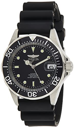 Invicta Men's Pro Diver Stainless Steel Japanese-Automatic Watch with Rubber Strap, Black, 22...