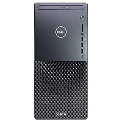 Dell XPS 8940 Tower Desktop Computer - 10th Gen Intel Core i7-10700 8-Core up to 4.80 GHz CPU, 64GB DDR4 RAM, 1TB SSD + 1TB Hard Drive, Intel UHD Graphics 630, DVD Burner, Windows 10 Home, Black