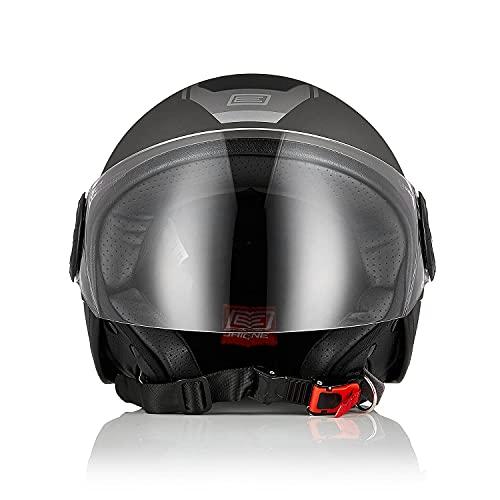 Origine casco de motocicleta casco de scooter casco de scooter casco abierto de calle 3 4 casco jet ECE 22.05 con visera
