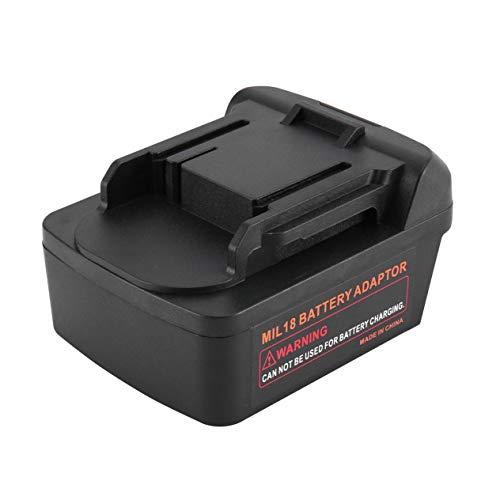 Adaptador de conversión para baterías Milwaukee M18 Adaptador para baterías Makita 18V Adaptador Taladro Herramientas de iones de litio