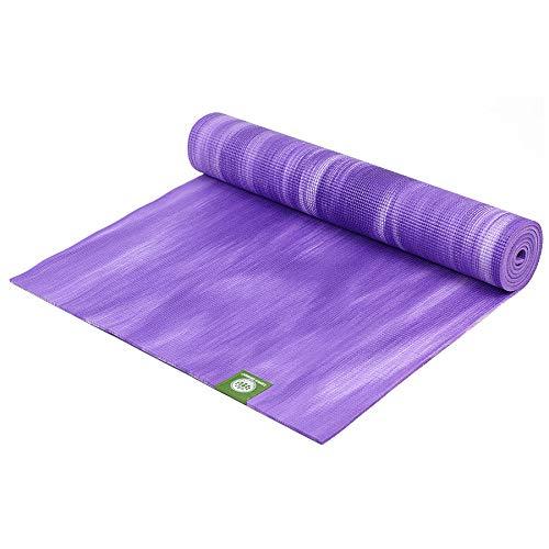 Lotus Design Yogamatte OekoTEX rutschfest, Gute Dämpfung, Bedruckt, Yogamatten mit Muster auch als Pilatesmatte, Fitnessmatte und Gymnastikmatte geeignet, 183 x 61 cm, Dicke 6mm, Bunte ECO PVC Matte