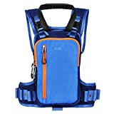 QOGIR Ski and Snowboard Harness for Kids: Learn to Ski Safely and Teach Your Child The Speed Control of Skiing, Ski Harness Trainer with Mini Backpack and Retractable Leash, Perfect for Beginner(Blue)