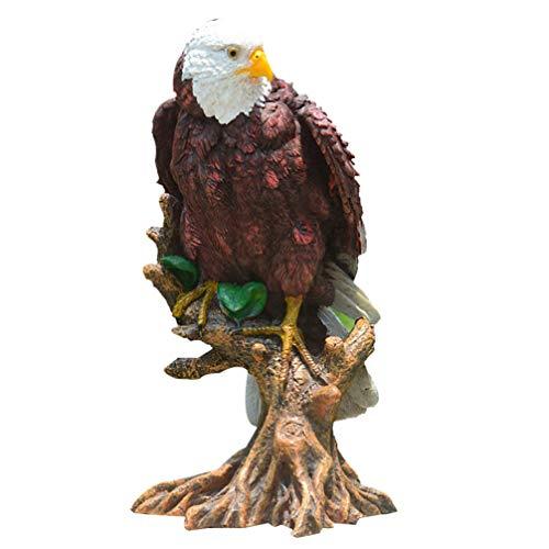 BESPORTBLE Harz Tier Skulptur Adler auf AST AST Figur Patriotisch Hockenden Vogel Handwerk Figur Spielzeug Desktop Dekorative Ornamente Geschenk für Home Office