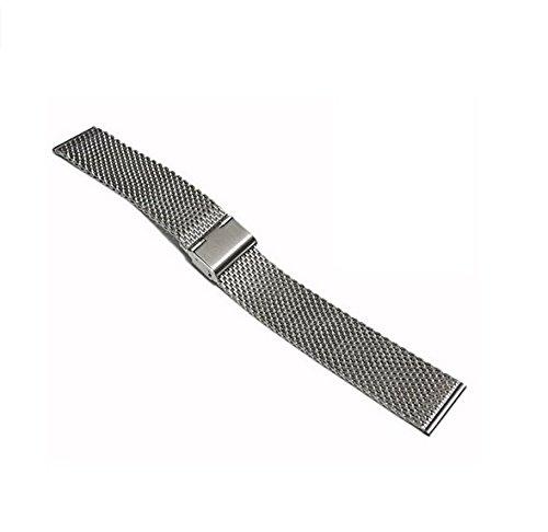 Acero inoxidable GOOQ Metal 18 mm malla reloj para Huawei relojes, Asus Zenwatch 2 generación y 18 mm plana terminal Normal relojes anchura