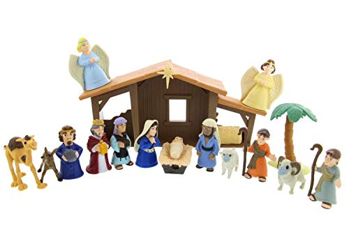 BibleToys Tales of Glory Nativity Set For Kids – Premium Christmas Nativity Set with Interactive Speaking Mary – Great for Children, Sunday School and Holiday Decorations – 17 Pieces