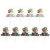 VALICLUD 10 Piezas de Adornos para La Tarta de Feliz Cumpleaños con Globos de Corazón Multicolor Adornos para Tartas Palillos de Frutas Adornos para Fiestas LGBT Orgullo Gay Arco Iris
