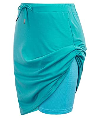 Women's Athletic Skort with Pockets Active Skirt Sports Tennis Golf Running Workout(XL,Turquoise)