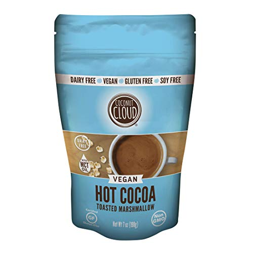 Coconut Cloud: Dairy-Free Instant Hot Cocoa Mix | Vegan, Natural, Delicious, Creamy Chocolate (Made in Colorado from Premium Coconut Milk Powder), Toasted Marshmallow Cocoa, 7 oz