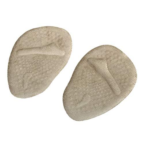 1 Paar Vorfußpolster Halb Einlegesohlen Anti-Rutsch-Massage Schuh-Pads Beige