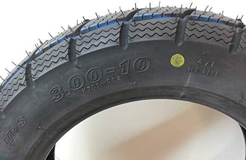 1 Copertone pneumatico 3.00-10 47L M+S tubeless rinf. vespa 50-125 a marce