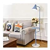 MRTYU-UY Lámpara de pie Lámpara de pie Lámpara de pie Moderna con Mesa de Centro Dormitorio Sala de Estar Estudio Luz de Lectura de Oficina Lámpara de pie Lámpara de pie Lámpara de pie (Color: Azul)
