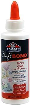 Elmer's Craft Bond Tacky Glue, 4 oz, Clear
