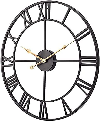 Garden Jacksonville Selling and selling Mall Clock Outdoor Wall Metal Hollow Larg Round